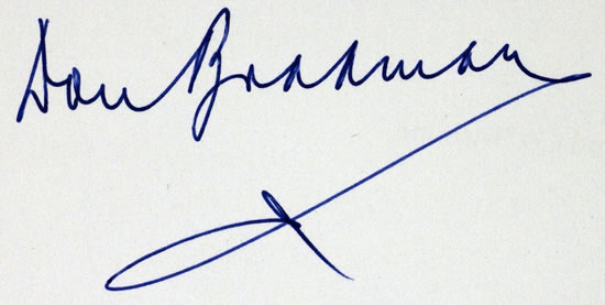 Don Bradman Signature, Forensically Examined